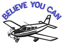 Believe Flying embroidery design