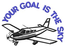 Goal Sky embroidery design
