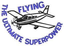 Superpower Plane embroidery design