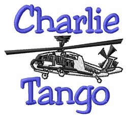 Charlie Tango embroidery design