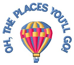 Oh, The Places embroidery design