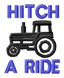Hitch Ride embroidery design