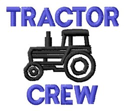 Tractor Crew embroidery design