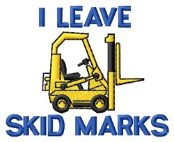Leave Marks embroidery design
