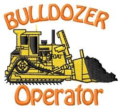 Bulldozer Operator embroidery design