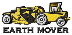 Earth Mover embroidery design