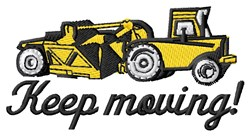 Keep Moving embroidery design