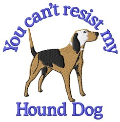Cant Resist Hound Dog embroidery design