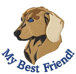 My Best Friend! embroidery design