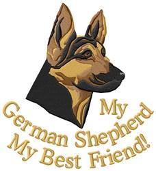 German Shepherd Best Friend embroidery design