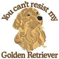 Cant Resist Golden Retriever embroidery design