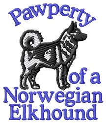 Pawperty Norwegian Elkhound embroidery design