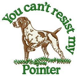 Cant Resist My Pointer embroidery design