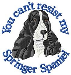 Cant Resist Springer Spaniel embroidery design