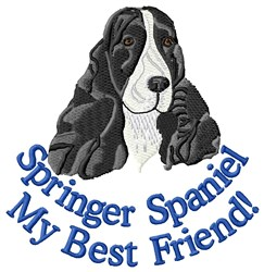 Springer Spaniel Best Friend embroidery design