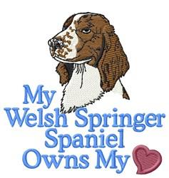 Welsh Springer Spaniel Heart embroidery design
