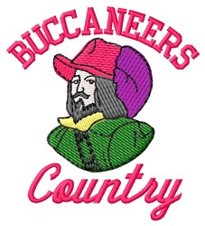 Buccaneers Country embroidery design