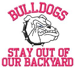 Backyard Bulldogs embroidery design