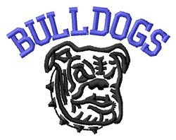 Bulldogs Mascot embroidery design