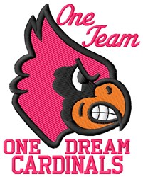 Cardinals Team embroidery design