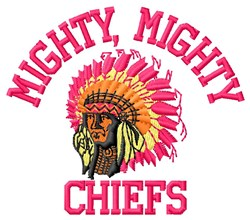 Mighty Chiefs embroidery design