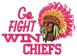 Go Fight Chiefs embroidery design