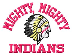 Mighty Indians embroidery design