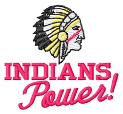 Indians Power embroidery design