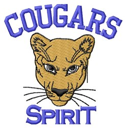 Cougars Spirit embroidery design