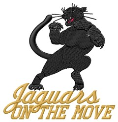 Jaguars On Move embroidery design