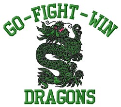 Go Fight Dragons embroidery design