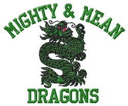 Mighty Dragons embroidery design