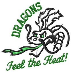 Dragons Heat embroidery design