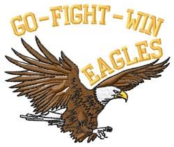 Go Fight Eagles embroidery design