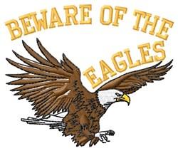 Beware Of Eagles embroidery design