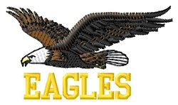 Eagles Team embroidery design