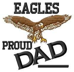Proud Eagles Dad embroidery design