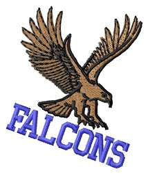 Falcons Mascot embroidery design