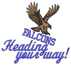 Falcons Your Way embroidery design