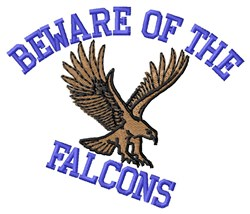 Beware Of Falcons embroidery design