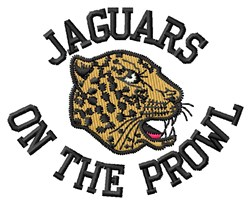 Jaguars On Prowl embroidery design