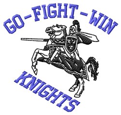 Go Fight Knights embroidery design