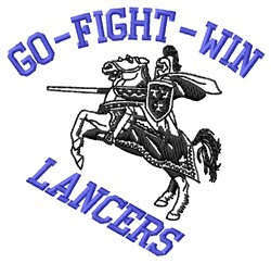 Go Fight Lancers embroidery design