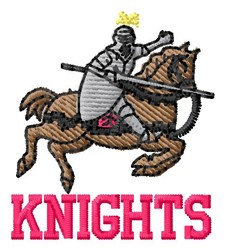 Knights embroidery design
