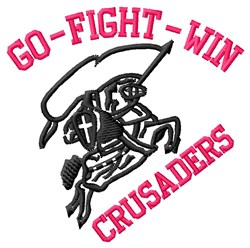 Go Fight Crusaders embroidery design