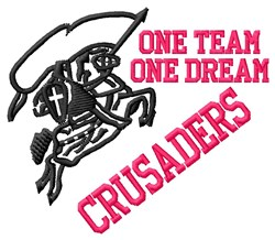 One Team Crusaders embroidery design