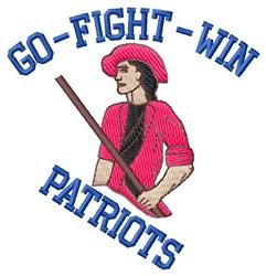 Go Fight Patriots embroidery design
