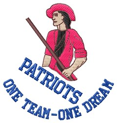 Patriots One Team embroidery design