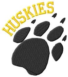 Huskies embroidery design