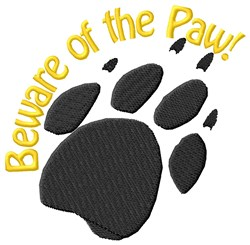 Beware Of Paw embroidery design